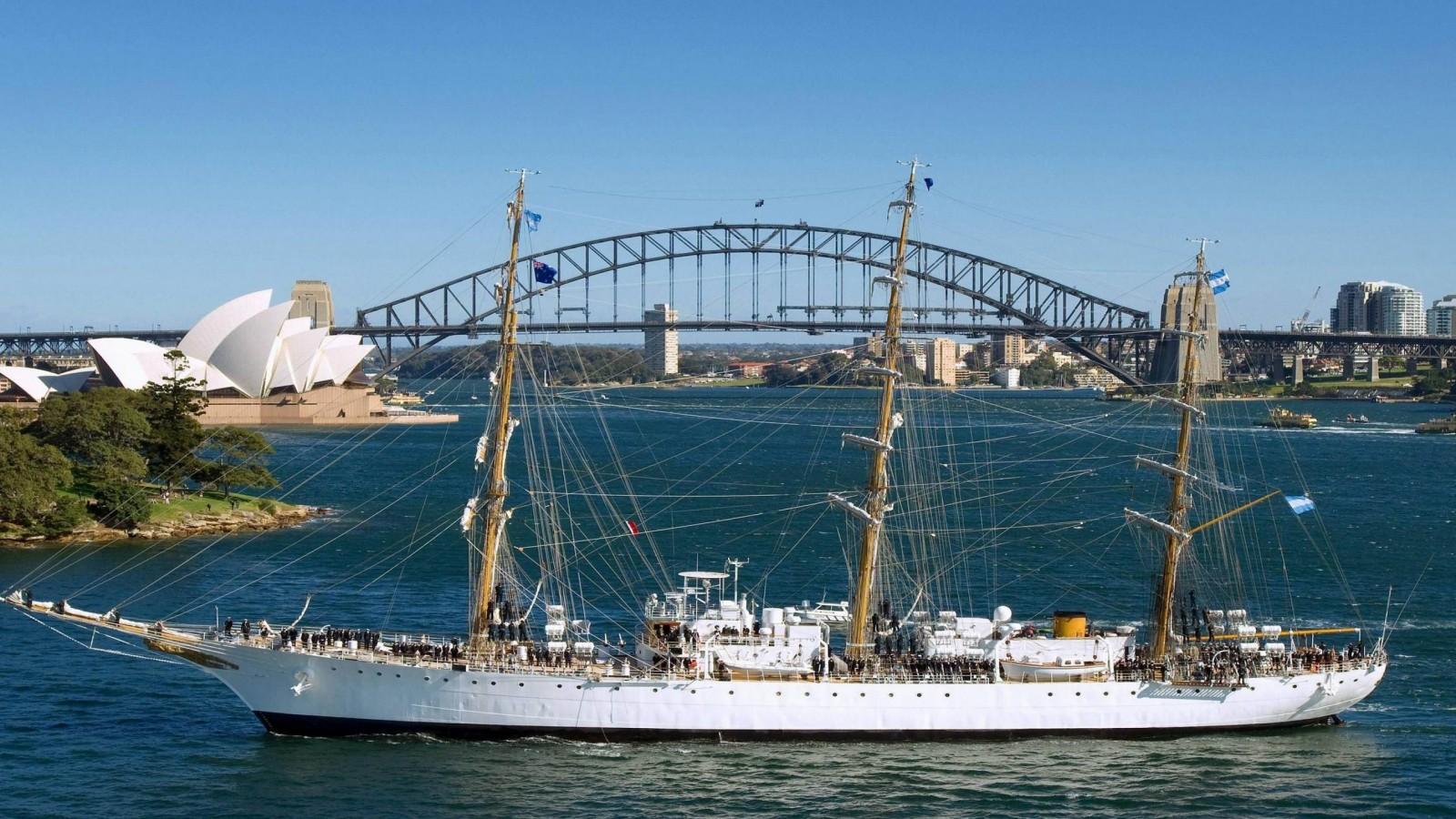 Opera House Ship NSW A  HD Wallpaper