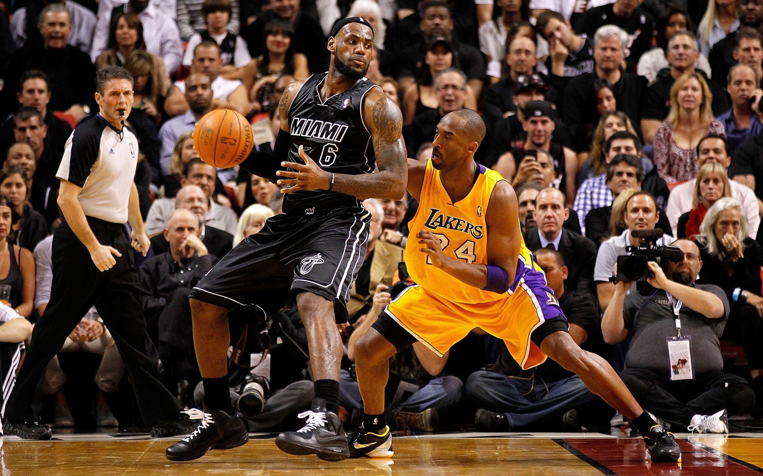 NBA  american  basketball  kobe bryant  la lakers  lebron james HD Wallpaper