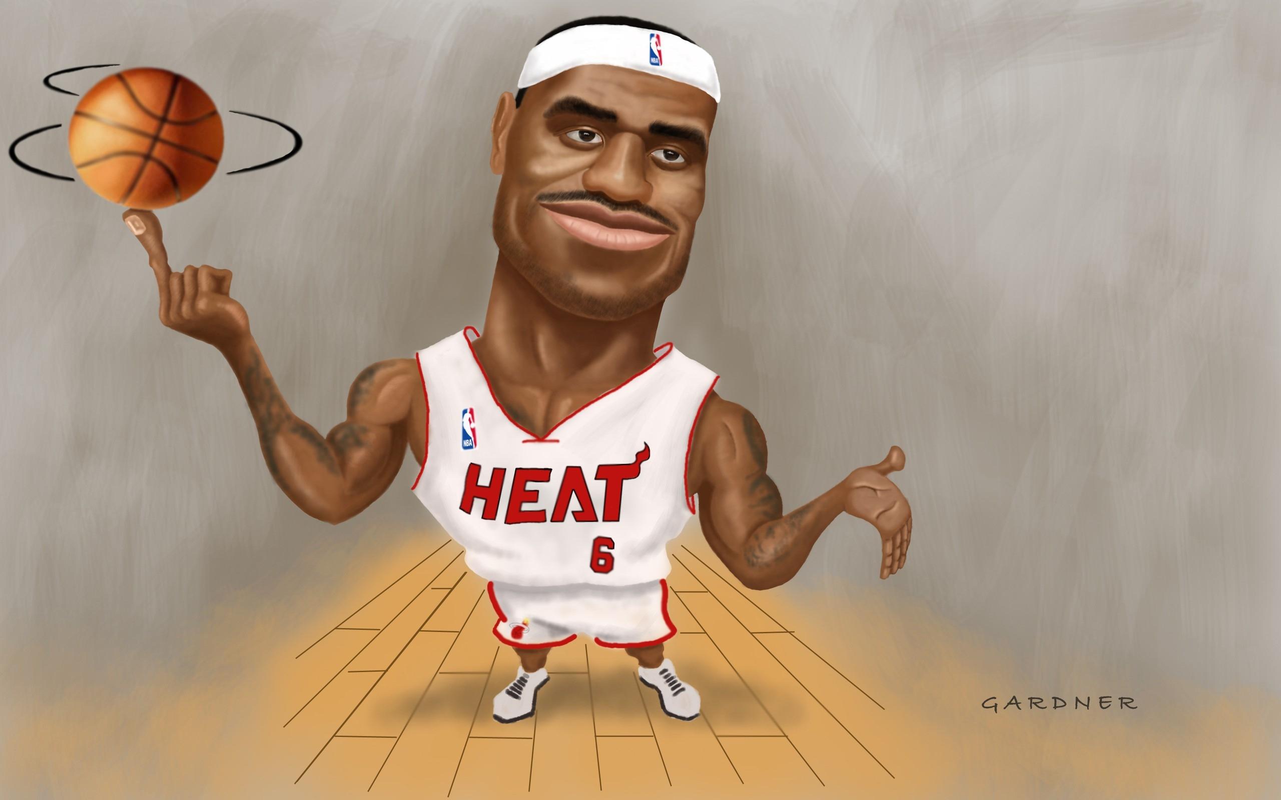 NBA  Basketball Artwork Lebron James Miami Heat   My walls HD Wallpaper