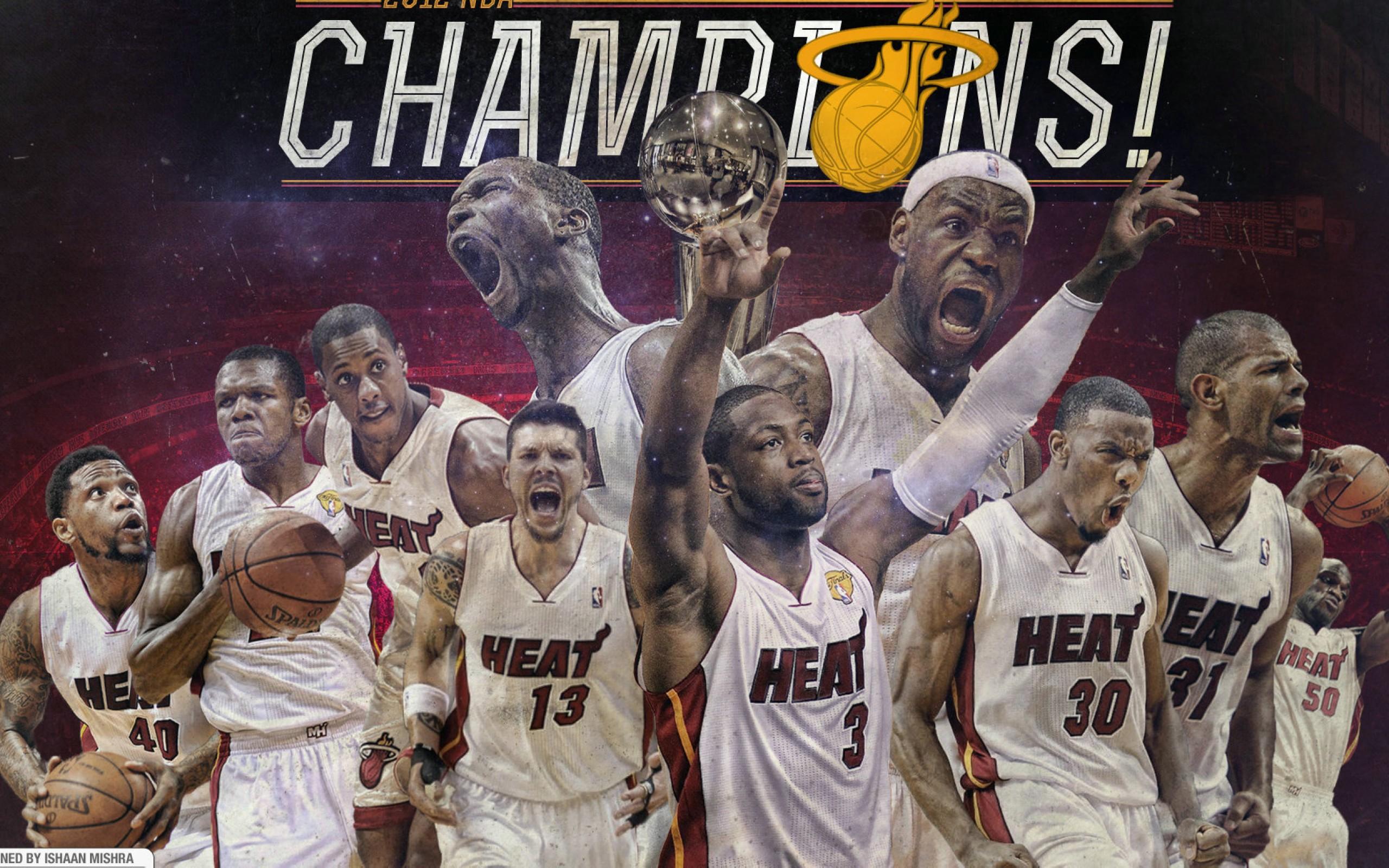 Miami Heat 2012 Champions Team    AM HD Wallpaper