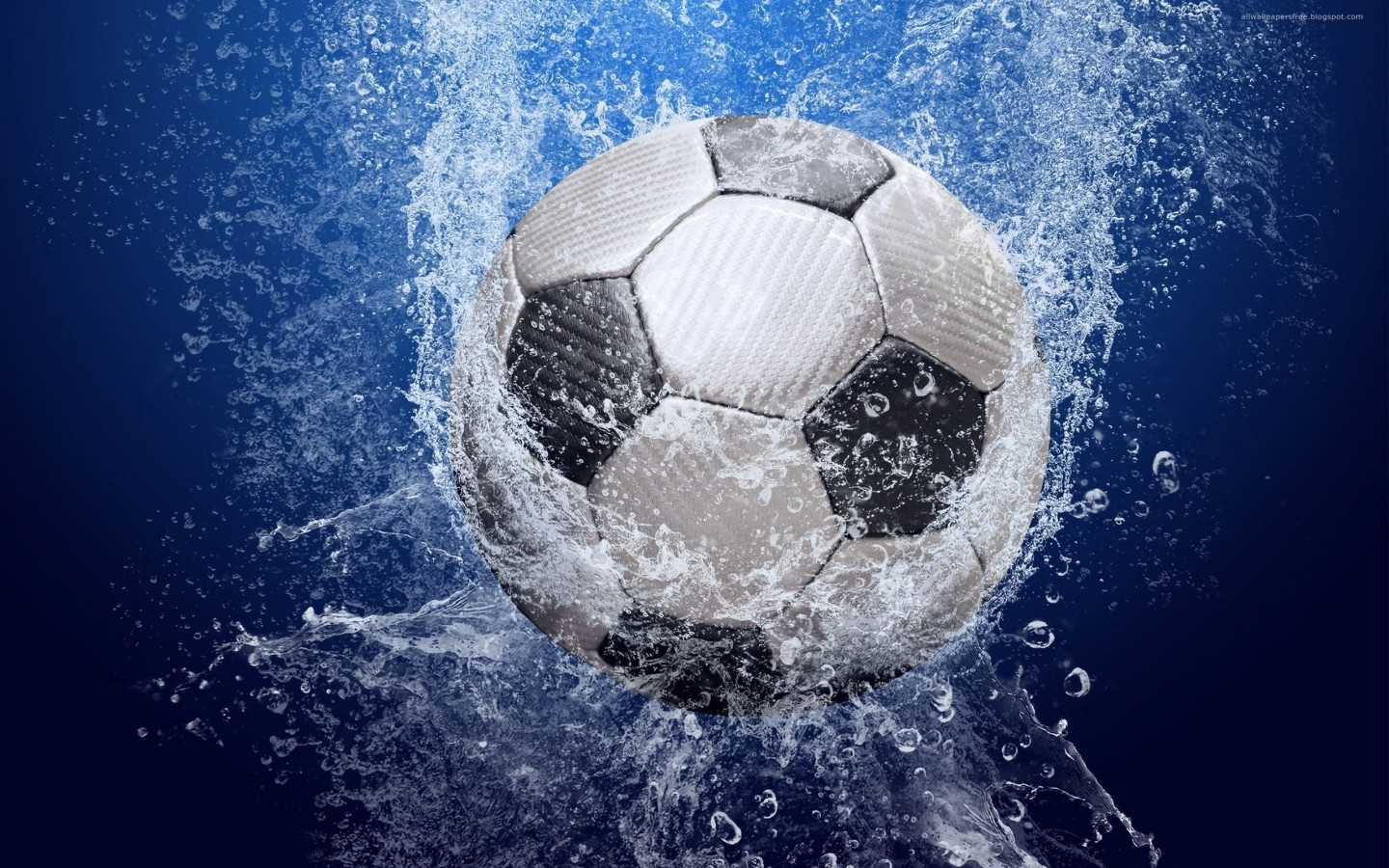 Soccer Ball In The Water   Free  HD Wallpaper