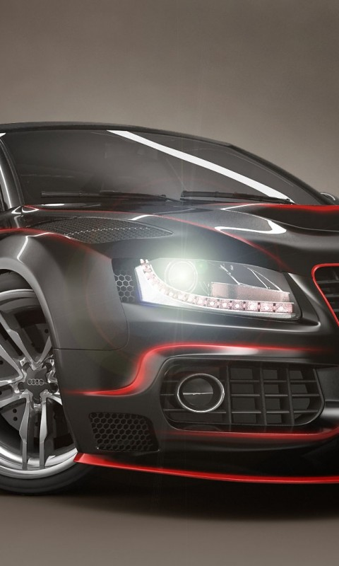Audi Black and Red Tuning    AX HD Wallpaper