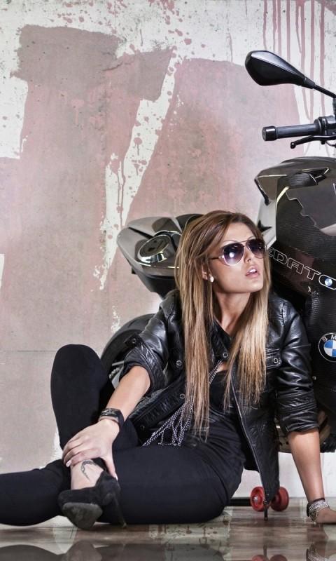 Motorcycle Bike Tuning Headlight Girl    AM HD Wallpaper