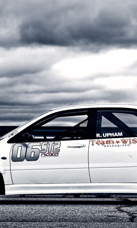 Mitsubishi  Lancer  Tuning auto  Race Car  White    Feed HD Wallpaper