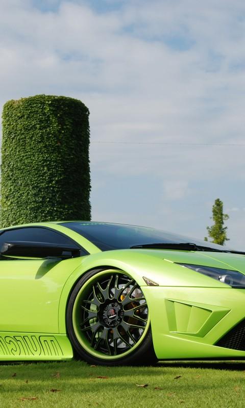 Lamborghini  Murcielago  Tuning  Green    Feed HD Wallpaper
