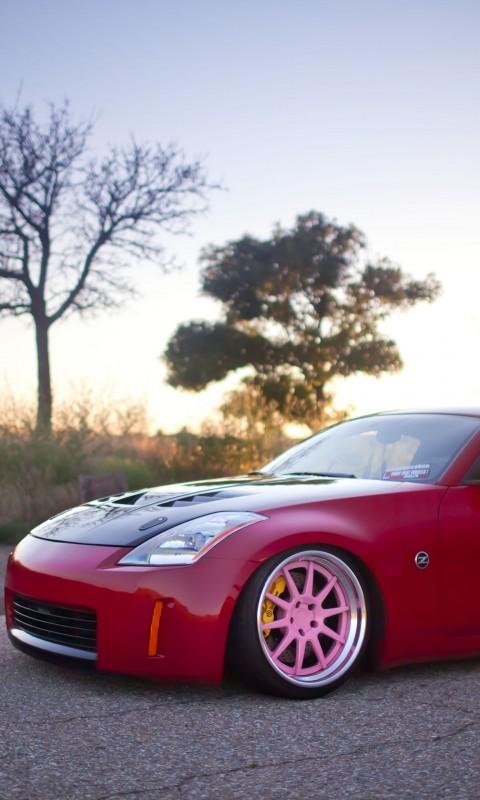 Nissan 350z  Tuning  Red  Tree    Feed HD Wallpaper