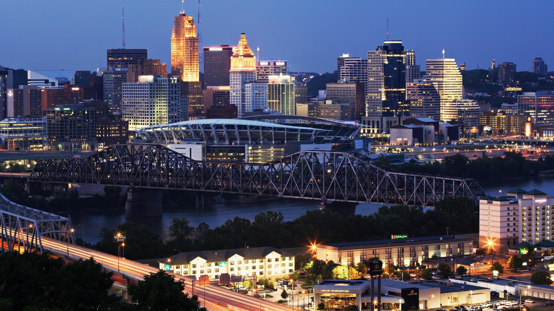 Download  Cincinnati  Kentucky  evening free desktop HD Wallpaper