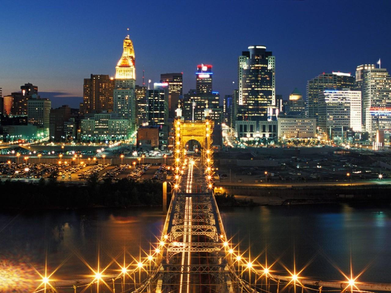Cincinnati Bridge  Hamilton County  Ohio       wallsheer  HD Wallpaper