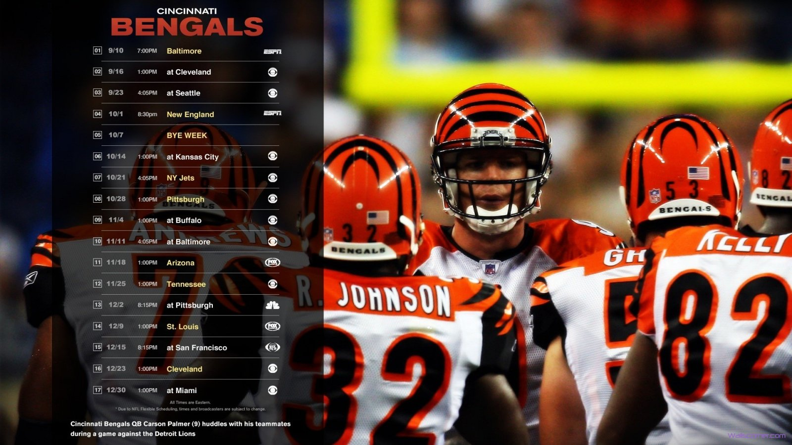 Cincinnati bengals season scheludes 173 hd  1600x900 HD Wallpaper